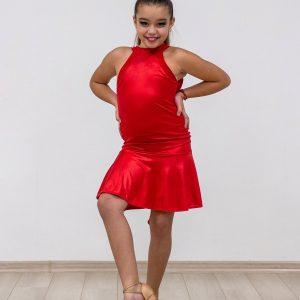 Červené latinské šaty