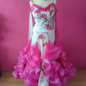 Biele / Ružové štandardné šaty